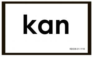 Kartu Baca Global dengan tulisan Kan