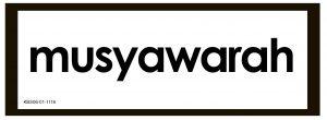 Kartu Baca Global bertuliskan dengan kata Musyawarah