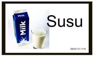Kartu Baca Global Bergambar Susu