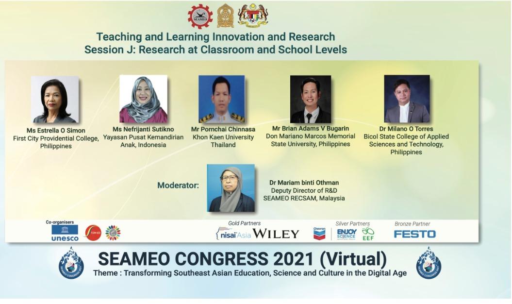 SEAMEO (Southeast Asian Ministers of Education Organization) Congress 2021, 28-29 April 2021